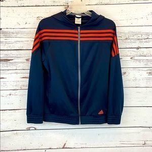Adidas Youth Large Zip up Warm up Track Jacket